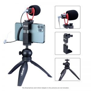 ulanzi Vlog Kit with Tabletop Tripod Mobile Holder Microphone