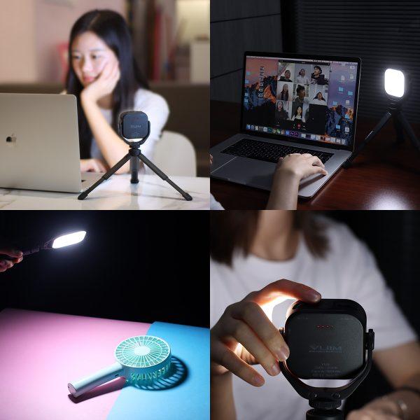 VIJIM VL66 360 Rotating Led Video Light with Mini Tripod-india-tiyana