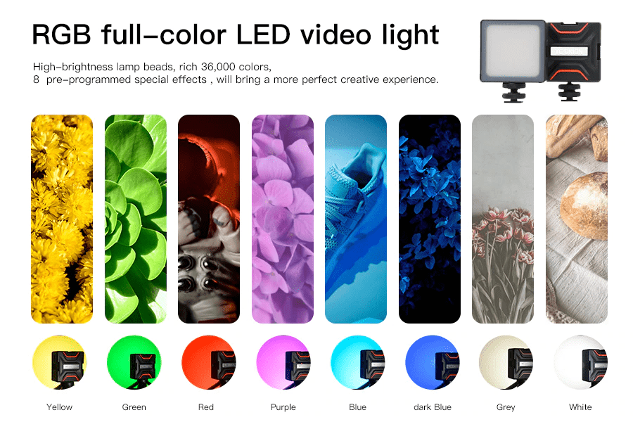 Yc Onion Brownie RGB Full-Color Led Camera Video Light-india-tiyana